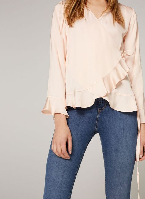 Frilled crossover blouse - View all - Ready to wear - Uterqüe United Kingdom