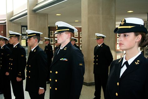 NROTC students standing at attention #NROTC #MiamiUniversity - surface warfare officer sample resume