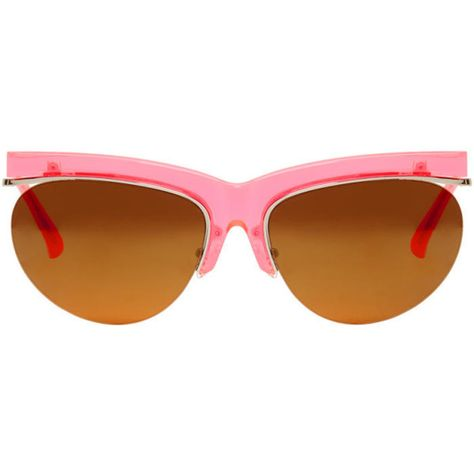 dd1145d24fc Dries Van Noten Pink Linda Farrow Edition Cat-Eye Sunglasses ( 330) ❤ liked  on Polyvore featuring accessories