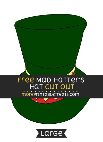 photograph regarding Mad Hatter Hat Template Printable called Free of charge Insane Hatters Hat Slash Out - Superior sizing printable Alice