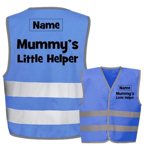 Mummys Little Helper Kids,Childs Hi-Vis Safety Vest Jacket High Visibility Viz,Costume,Fancy Dress - FREE personalisation#childs #dress #free #helper #high #hivis #jacket #kidschilds #little #mummys #personalisation #safety #vest #visibility #vizcostumefancy