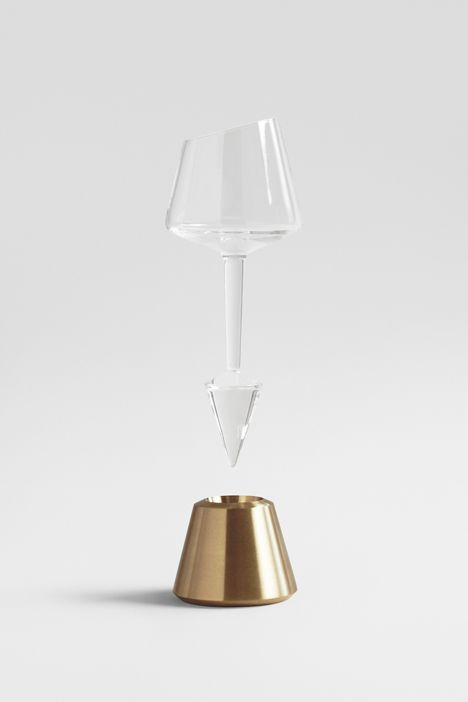 A portdecanter set that encourages users to constantly share the drink around