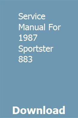 Service Manual For 1987 Sportster 883 Sportster 883 Sportster Electrical Wiring Diagram