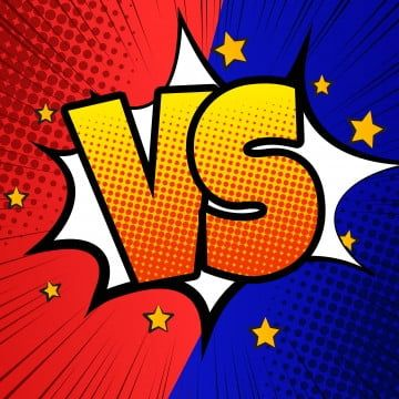 Comic Vs Background With Blue Orange In 2020 Graphic Design Background Templates Comic Styles Halftone