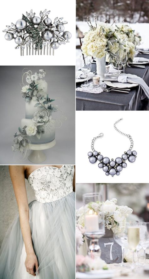 Embrace shades of grey for a beautiful wedding theme Silver wedding inspiration for the alternative, creative bride.