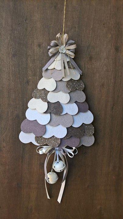 Albero In Feltro Ornamento Di Natale Pupazzo Di Neve Di