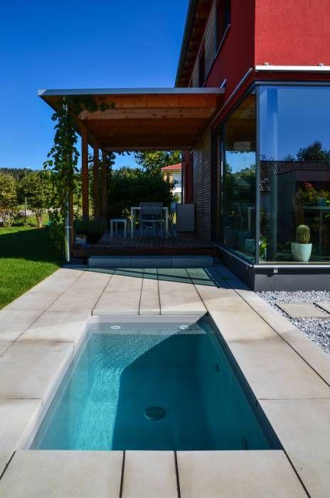 Ideal Moderner Garten Bilder wat u Minipool Sauna Tauchbecken f r den Garten Small pools and Swimming pools