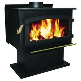Us Stove King Pedestal Heater With Blower Is A Large Plate Steel Wood Burning Stove With A Pedestal Base It Is Fully Wood Stove Wood Heater Wood Burning Stove