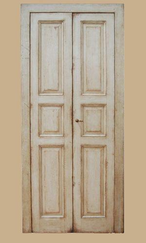 Porte Antiche A Due Ante.Riproduzione Di Una Porta Di Fine 700 Realizzata In Abete Antico