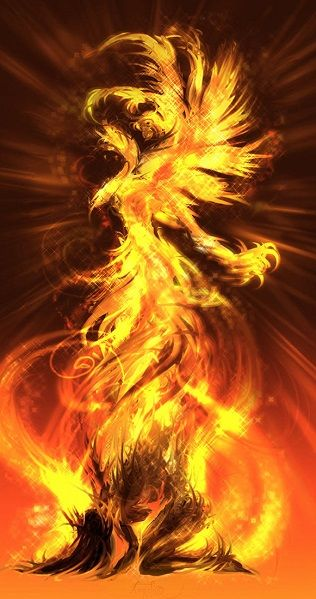 {via DeviantArt} The Song of Phoenix Wings - poem