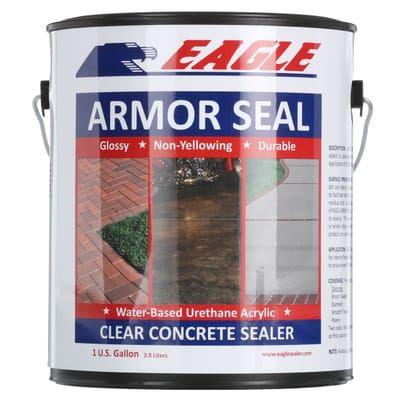 Eagle 1 Gal Armor Seal Urethane Modified Acrylic Glossy Durable Water Based Low Odor Clear Concrete Sealer Ea1 The Home Depot Concrete Sealer Concrete Sealer