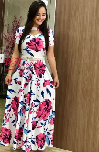 113d8648a301f9 Floratta Modas - Moda Evangélica - A Loja da Mulher Virtuosa | vestidos em  2019 | Vestido longo, Floratta modas e Roupas fashion