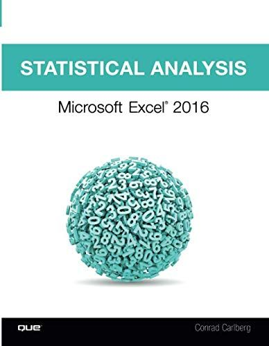 DOWNLOAD>][PDF] Statistical Analysis: Microsoft Excel 2016