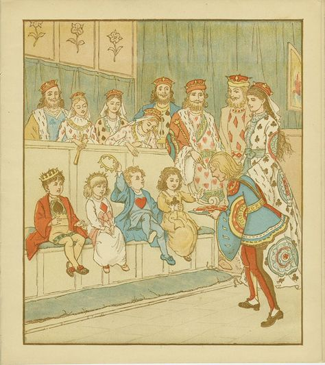 Queen of Hearts, Caldecott 27 The Knave of Hearts 8.75 x 8 ins,