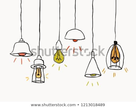 Simple Isolated Childish Hand Drawing Ceiling Lamp Element For Wallpaper Background Texture Banner Label Cover Etc Vector Design Ideias