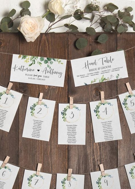 Seating Chart Template Editable, Wedding Seating Chart Template, Hanging Seat Chart, Printable Table Card, Instant Download