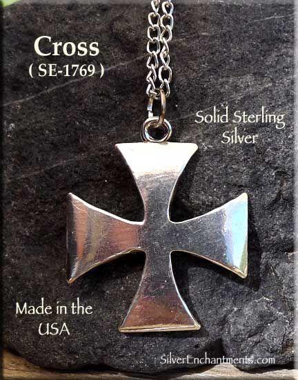TONYS JEWELRY CO Sterling Silver Maltese Cross Pendant