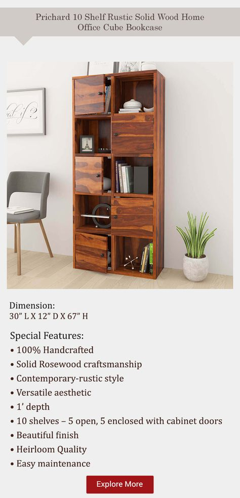 Not Able To Find The Perfect Bookcase Fret Not Explore 100 Solid Wood Bookcases Just As Diverse As You Cube Bookcase Bookcase Bookcase Inspiration
