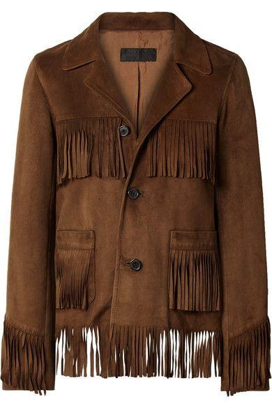 SRHides Womens Western Fringed Genuine Leather Moto Jacket
