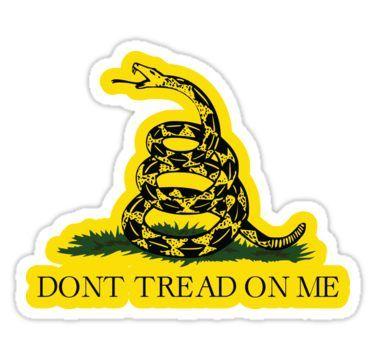 Gadsden Flag Don T Tread On Me Libertarian 2nd Amendment 2a Yellow Flag Hd High Quality Online Store Sticker By Iresist Dont Tread On Me Gadsden Flag Flag