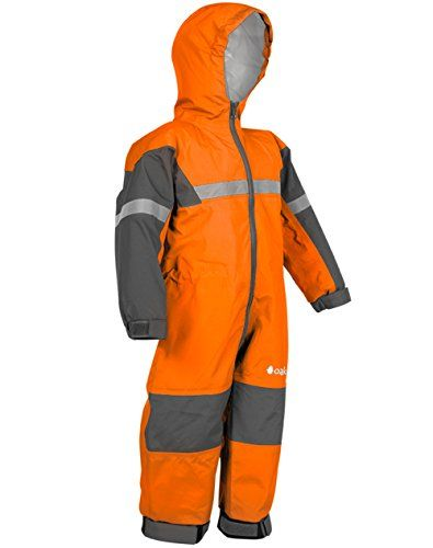 Kids Waterproof Coverall Rainsuit All In One Play Wet Suit Boys Girls Boilersuit