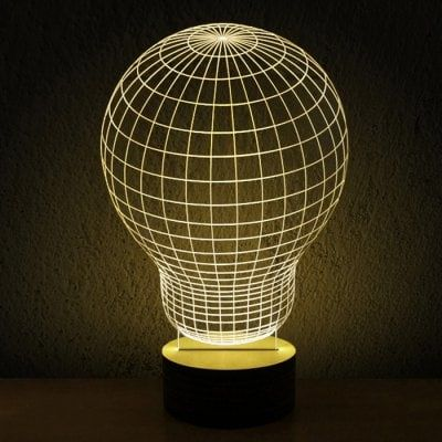 Just Us 39 93 Buy Stylish Transperant 3d Led Bulbing Led Lamp 3d Wireframe Magic Night Bed Light Online Shopping At Gear Magical Lamp Lamp Design Table Lamp