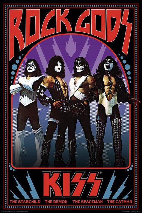 Kiss - Rock Gods - Poster