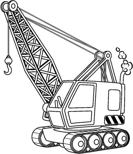 Coloring Pages Of Cranes Truck Mounted Yahoo Image Search