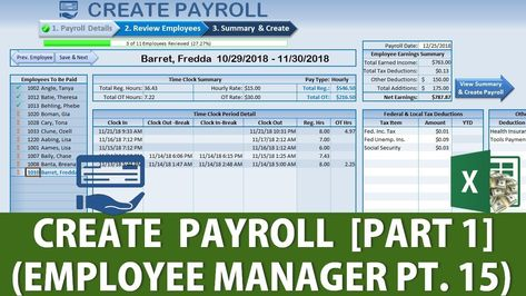 How To Create A Full Payroll in Excel Pt1 Employee Manager Part 15