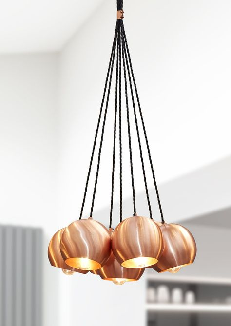 Globe Pendant Light in Copper by Industville – Lime Lace