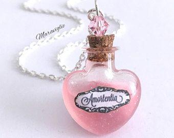 HP Inspiré Bijoux Amortentia Love Potion Collier-Bouteille Flacon en verre magique