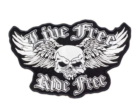 Ride Free embroidered back patch