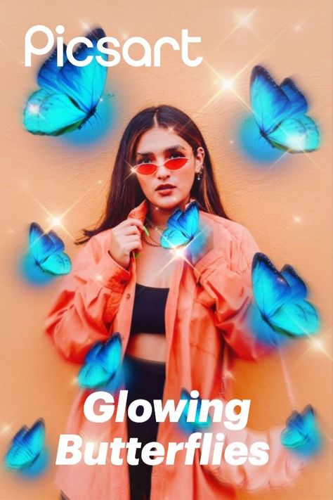 Use PicsArt Stickers to create your next aesthetic look. Add a FLTR for extra spice! ✨🦋