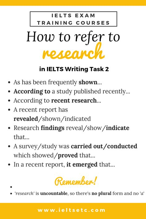 IELTS Writing Task 2: How to refer to research and articles