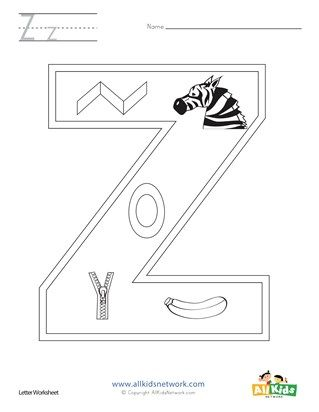 Letter Z Coloring Page Letter A Coloring Pages Letter Z Coloring Pages