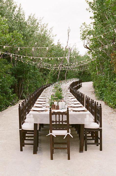 Cafe lights jazz up an outdoor reception | Brides.com