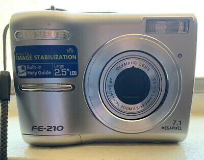 Olympus Fe Fe 210 7 1mp Digital Camera Silver Ebay In 2020 Digital Camera Digital Ebay