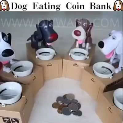 🔥We Have Very Limited Quantities At This Price. There Are Still 200 Pack Remaining. Hurry Up!!!🔥  Our Bestselling Dog Coin Money Bank is awesome and perfect for kids! Adults love them too!