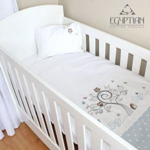 Nursery Baby COT or COTBED bedding sets 3 piece Cute owls