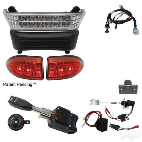 Build Your Own LED Light Bar Kit Club Car Precedent 04-08.5 ... on golf cart with dump bed 4x4, golf carts driving lights, golf tail lites for 5, golf carts street-legal light kits,
