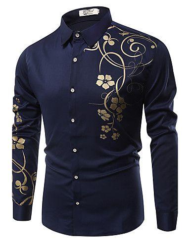 Bloemetjes Overhemd.8 50 Heren Street Chic Overhemd Katoen Bloemen Klassieke Boord
