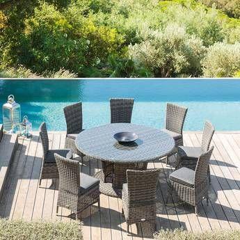 Moorea Salon De Jardin Table Et Fauteuil