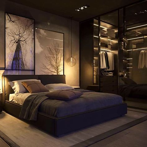 Inspirations Mens Bedroom Ideas - All Bedroom Design Modern Luxury Bedroom, Luxury Bedroom Design, Modern Master Bedroom, Home Room Design, Stylish Bedroom, Small Room Bedroom, Master Bedroom Design, Luxurious Bedrooms, Home Decor Bedroom