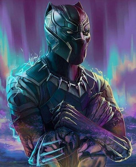 Avengerspl Dzien Dobry Blackpanther Tchalla Chadwickboseman Wakanda Wakandaforever Longlivetheking Black Panther Art Black Panther Marvel Panther Art