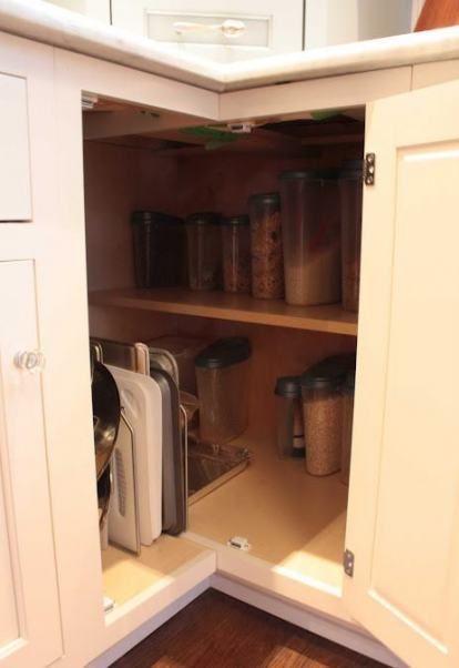 44 Ideas Kitchen Corner Cabinet Solution Spaces Kitchen In 2020