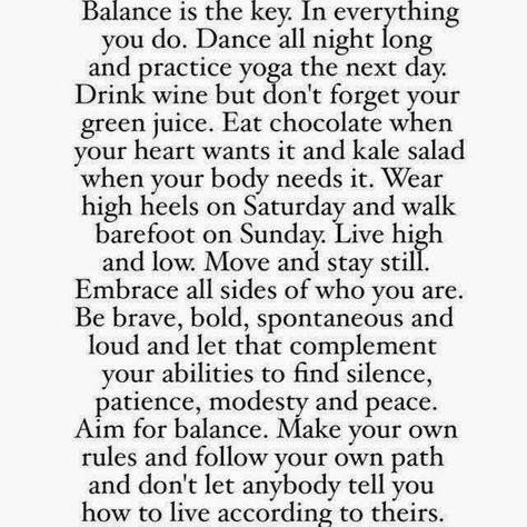 HUNGRY FOR BALANCE