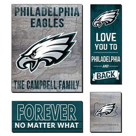 newest fe8bd 06de3 NFL Sports Love Mega Canvas Set - Philadelphia Eagles ...
