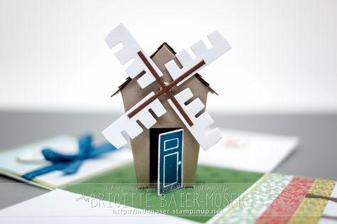 Windmühle mit den Home Sweet Home Thinlits von Stampin'Up! Windmill created with…