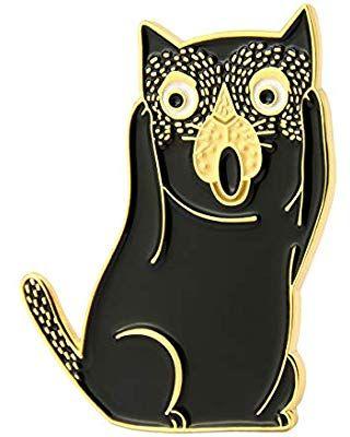 GS-JJ Art History Cat Enamel Lapel Pin 1.25