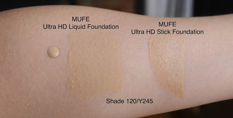 Mufe Ultra Hd Foundation Shade Y245 Stick And Liquid Review Swatch Makeup Forever Hd Foundation Stick Foundation Makeup Forever Foundation